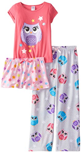Sleep & Co Big Girls' Owl 3 piece Pajama Set | Pajamas Shop