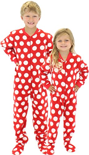 SleepytimePjs Kids Fun Printed Footed Fleece One Piece Pajamas ...