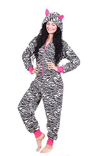 Totally Pink Women S Warm And Cozy Plush Onesie Pajama
