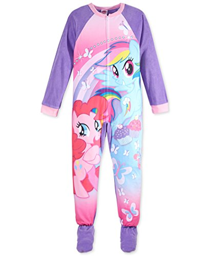 My Little Pony Girls One-Piece Footed Pajamas – Blanket ...