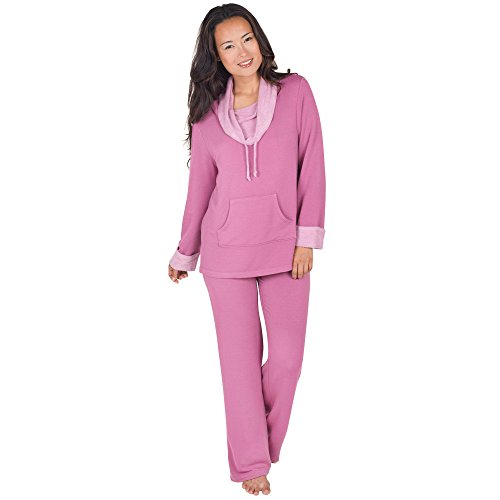 PajamaGram Women's Pink Super Soft Pajama Lounge Set | Pajamas Shop