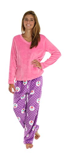 Pajamamania Women S Fun Printed Fleece Pajama Sets