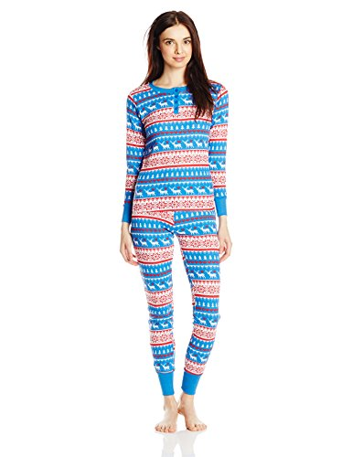 45db3b9e8b Bottoms Out Women s Striped Waffle-Knit Pajama Set
