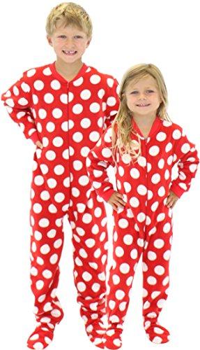 4407b9142 SleepytimePjs Kids Fun Printed Footed Fleece One Piece Pajamas ...