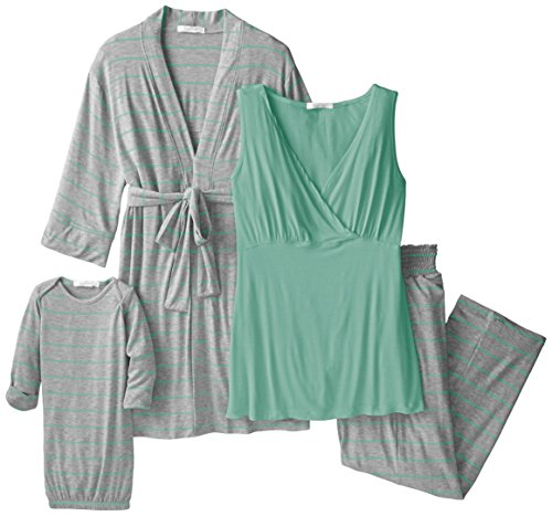 162190b207 Everly Grey Women s Maternity Roxanne Nursing Pajama Pant Set with Baby Gown