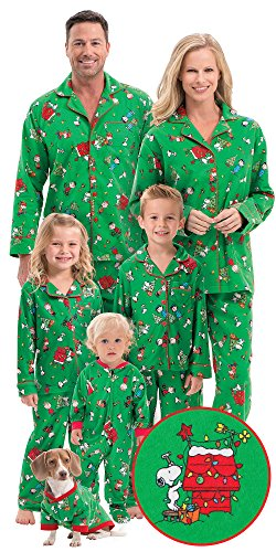 brushed cotton flannel charlie brown matching christmas pajamas for the  whole family ac14ef240