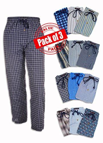 Andrew Scott Men s 3 Pack Fancy Lounge Sleep Pants  17e491e49