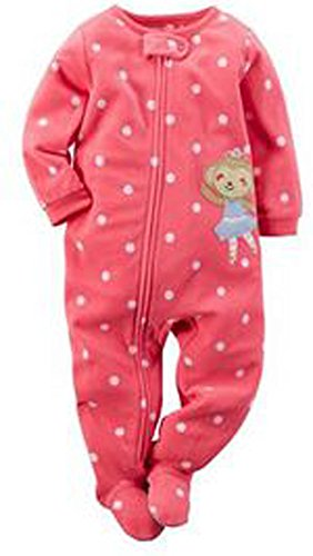61178c281 Carter s Baby-girls  1 Pc Fleece Footed Blanket Sleeper Pajamas ...