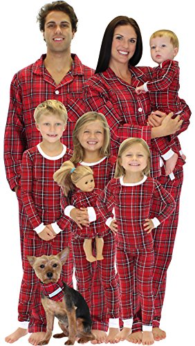 5ef2a7f0c SleepytimePjs Family Matching Red Plaid Flannel Pajamas PJs Sets for ...