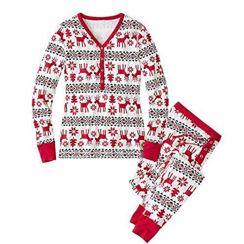 Q Y Family Matching Christmas Pajamas Set Women Baby Kids Deer Sleepwear  Nightwear b8d6e4896