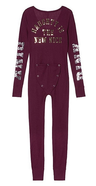 f632d6393b Victoria s Secret Pink Thermal Onesie Pajama Naughty is the New Nice ...