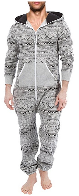 0cd4e5a5f729 SkylineWears Men s Fashion Onesie Hooded Jumpsuit One Piece non Footed  Pajamas
