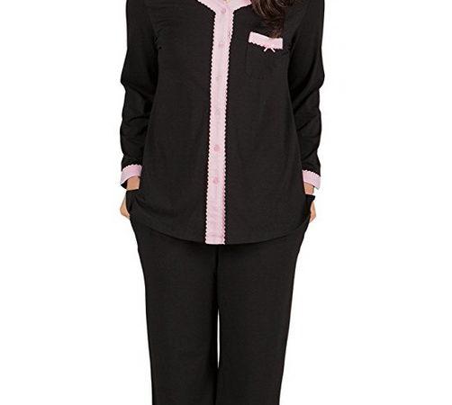 5bccfaa188 Women's Pajama Set - Long Sleeve Pajamas for Women - Button Up Sleepwear PJ  Set