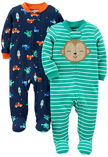 Simple Joys By Carter S Baby Boys 2 Pack Cotton Footed