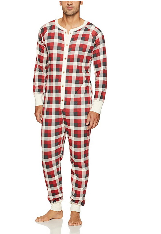 Burt s Bees Baby Men s Adult 100% Organic Cotton Unionsuit Holiday Pajamas a6ff5c1e4
