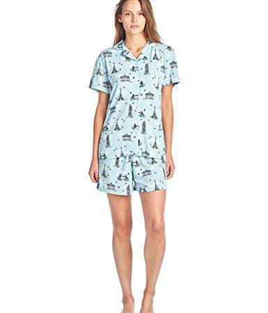 2818cf584c877 BHPJ By Bedhead Pajamas Women's Soft Knit Short Sleeve Pajama Shorts Set