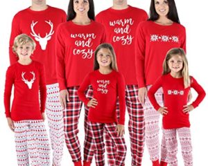 2a3a803c7 SleepytimePjs Family Matching Red Snowflake Onesie PJs Footed